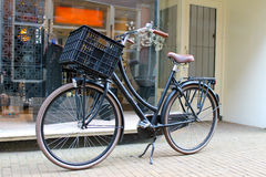 Bicycle near the store. Royalty Free Stock Photo
