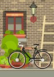 Bicycle near the window Royalty Free Stock Photography