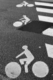 Bicycle o sinal de estrada Imagens de Stock Royalty Free