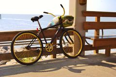 Bicycle by the Ocean. Royalty Free Stock Images