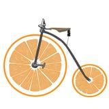 Bicycle with orange wheels. Stock Photos