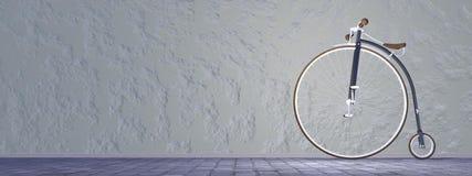 Bicycle ou haute bicyclette de roue - 3D rendent Photo libre de droits