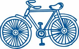 Bicycle Outline Royalty Free Stock Photo