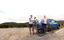 Bicycle panorama Royalty Free Stock Image