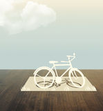Bicycle Paper cut Stock Image