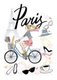 Bicycle_paris7 免版税库存照片
