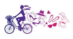 Bicycle_paris2 免版税库存图片