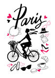 Bicycle_paris10 图库摄影