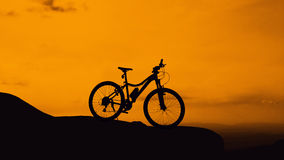 Bicycle park on mountain Royalty Free Stock Image