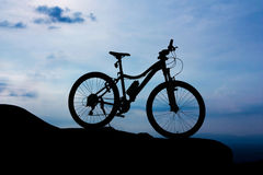 Bicycle park on the mountain Stock Photography