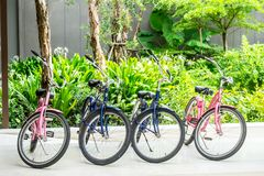 Bicycle park Stock Images