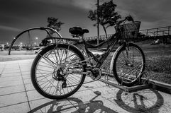 Bicycle In The Park At Night Royalty Free Stock Photo
