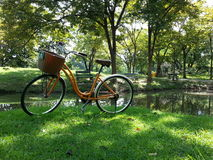 Bicycle in park Royalty Free Stock Photography