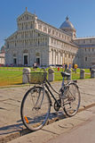 Bicycle Parked in front of Pisa Cathedral Royalty Free Stock Photography