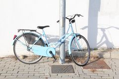 Bicycle parked Royalty Free Stock Photo
