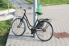 Bicycle parked Royalty Free Stock Photography