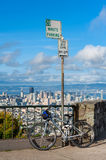 Bicycle parked at Twin Peaks San Francisco Stock Photography