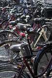 Bicycle parking. Close up of an Bicycle parking Royalty Free Stock Photos