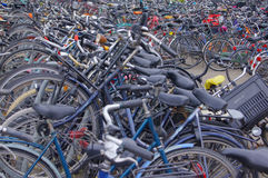 Bicycle parking Stock Photos