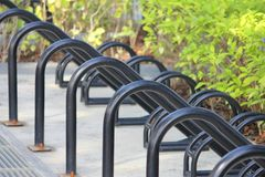 Bicycle parking. Row of parking space  for bicycle Stock Images