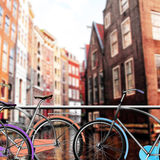 Bicycle Parking in Amsterdam Stock Photo