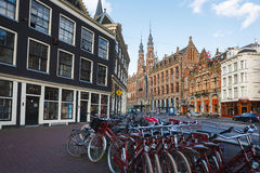 Bicycle parking in Amsterdam Stock Photography