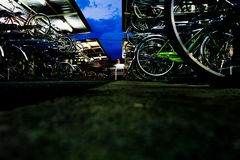 Bicycle parking area Royalty Free Stock Photo