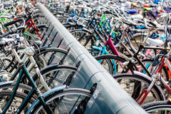 Bicycle parking area Stock Images