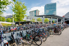 Bicycle parking area Stock Image