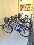 Bicycle parking bay Stock Images