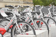 Bicycle parking in Berlin Stock Photography