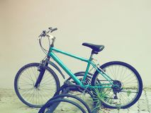 Bicycle with parking. Retro style Royalty Free Stock Photography