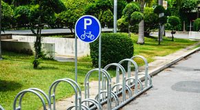 Bicycle parking. It is a bike park in Thailand Stock Photography