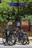 Bicycle parking. In centre of el Ravsl district, Barcelona, june 2015 Stock Image
