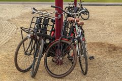 Bicycle parking in the city in the city. Bicycle parking in the city Stock Images