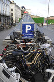 BICYCLE PARKING. Copenhagen / Denmark_  04 January 2017 -Bicycle parking at kongens nytorv station       Photo. Francis Joseph Dean/Deanpictures Stock Images