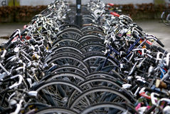 Bicycle parking, Eindhoven, The Netherlands Stock Images
