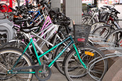 Bicycle parking. Finland. Stock Images