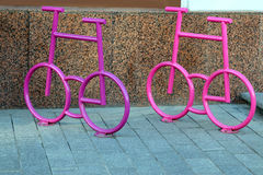 Bicycle parking in the form of a bicycle Royalty Free Stock Photo