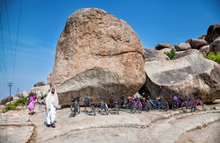 Bicycle parking in Hampi Stock Image