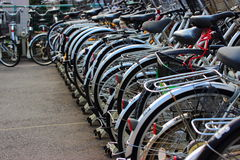 Bicycle parking. In Japan, the bicycle is a widely used means of transport in Japan Royalty Free Stock Image