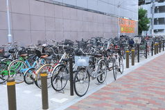Bicycle parking Japan Stock Images
