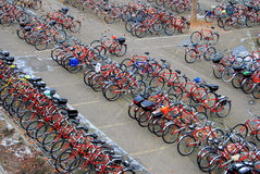 Bicycle Parking Lot Royalty Free Stock Images