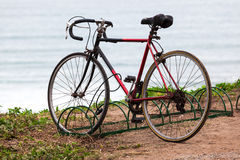 Bicycle in parking lot Stock Image