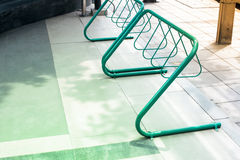 Bicycle parking lots Stock Photography