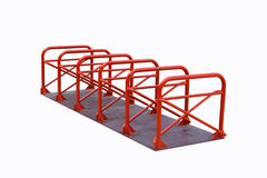 Bicycle parking made steel Stock Photo