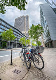 Bicycle parking on Mainzer Landstrasse Royalty Free Stock Photos
