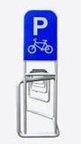 Bicycle parking rack, bike racks bicycle parking. Stock Image