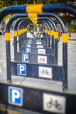 Bicycle parking rack London Stock Photo