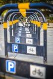 Bicycle parking rack London Stock Photo